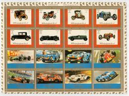AJMAN   1972     SHEET  15,6X20    AUTO-CAR    MNH** - Ajman