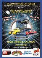 CPM (Thémes - Jeux ) Foire International De Jeux Et   Loisirs De Paris -Jeux Vidéo&Casinos - Cartes Postales