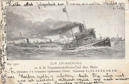 Zur Erinnerung An S.M. Torpedoboots-Division Auf Dem Rhein - Commandant Funke - Mai 1900 - Germany