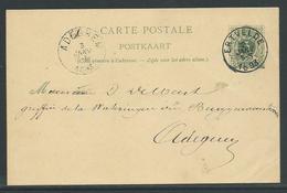 PWST Carte Postale 5 C Verstuurd Uit Ertvelde 2 Janv 1893 - Entiers Postaux
