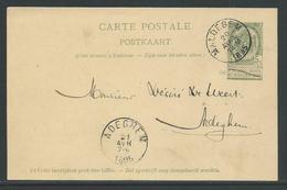 PWST Carte Postale 5 C Verstuurd Uit Maldegem 20 Avr 1895 - Entiers Postaux