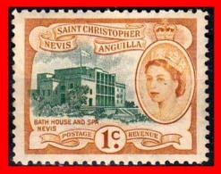 SAN CRISTÓBAL-NIEVES-ANGUILA  ( AMERICA DEL NORTE  )  STAMPS  MOTIFS 1954 -1957 QUEEN ELIZABETH II & LOCAL MOTIFS - Anguilla (1968-...)
