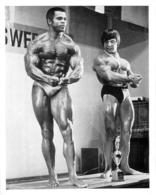 PHOTO  HOMMES EN MAILLOT DE BAIN CULTURISTE CULTURISME CONCOURS 23 X 18 CM - Sports