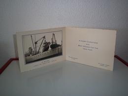 BELSHIPS COMPANY / LONDON / S S BELJEANNE - CARTE - CARNET DE VOEUX / HAPPY CHRISTMAS  1953 - - Announcements