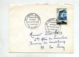 Lettre Cachet Le Pecq Federation Fils Des Tues - Marcophilie (Lettres)