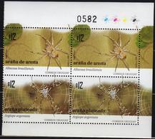 Uruguay 2009 Block 4 V MNH Spiders - Unclassified