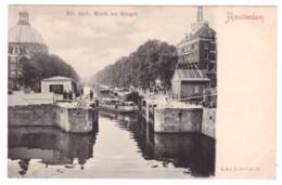 AMSTERDAM - Ev. Luth Kerk En Singel  (carte Animée) - Amsterdam