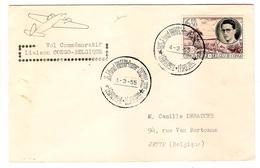 PR6432/ TP 199 Baudouin S/L.Avion Vol Commémoratif Congo-Belgique C.Léo.1925 Thieffry-Cocquyt.4/3/55 V.Belgique - Congo Belge