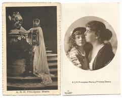 ROMANIA 2 OLD POSTCARD , A.S.R.  PRINCIPESA MARIA  AND A.S.R. PRINCIPESA MARIA SI PRINTESA ILEANA . - Roemenië