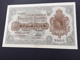 FAKLANDS P10B 50 PENCE 20.02.1974 UNC - Islas Malvinas