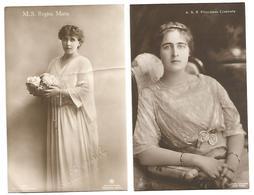 ROMANIA 2 OLD POSTCARD , M.S. REGINA  MARIA  AND A.S.R. PRINCIPESA ELISABETA . - Roemenië