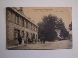 63 Charbonnières-les-Vieilles,place De L'église.café De La Paix  Dumas,épicerie Et Mercerie - Autres Communes