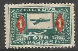Lithuania - 1921 Kaunas Air Service MH *  ;   Sc C7 - Lithuania