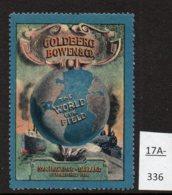 USA Poster Stamp Goldberg Bowen & Co Railway Train Ship Globe - Trains