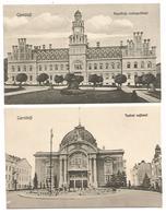 ROMANIA , 2 OLD POSTCARD OF CERNăUTI , TEATRUL NATIONAL AND RESEDINTA METROPOLITANA . - Roemenië