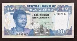 SWAZILAND P24A 10 EMALANGENI 1995.1996 UNC - Swaziland