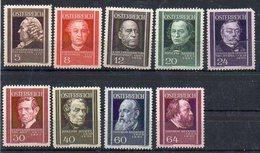 Autriche N° 506 à 514 (n° 510 Avec Dent Absente En Coin) Neufs * - Cote (Y&T 2005) : 31,50€ - Nuevos