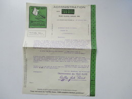 Schweiz 1926 Administration Des Télé Blitz La Chaux-De-Fonds Tele Blitz Suisse Dokument - Switzerland