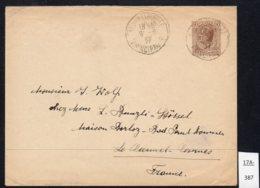 Monaco Entier EP Stationery Louis II 50c Env. Voyagé / Used 1937 - Postal Stationery