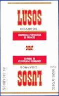 Portugal 1950 To 1960, Packet Of Cigarrettes - LUSOS / Companhia Portuguesa De Tabacos - Empty Cigarettes Boxes