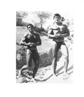 PHOTO  2 HOMMES  EN MAILLOT DE BAIN CULTURISME CULTURISTE  13.50 X 12 CM PHOTO FERRERO - Sports