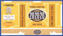 Portugal 1950 To 1960, Packet Of Cigarrettes - TRÊS VINTES 20-20-20 / A Tabaqueira, Lisboa - Empty Tobacco Boxes