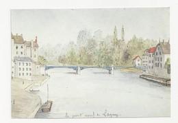 77 LAGNY - Le Pont Neuf - Musée Municipal - Illustration - Cpm Seine Et Marne - Lagny Sur Marne