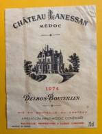 10180 - Château Lanessan 1974  Haut-Médoc - Bordeaux
