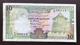 SRI LANKA P77 10 RUPEE 1.1.1987 F - Sri Lanka