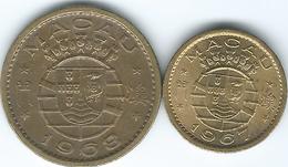 Macau - Portuguese - 1967 - 5 Avos (KM1a) & 1968 - 10 Avos (KM2a) - Macau