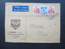 Schweiz 1942 Luftpost Firmenbrief Homawe Basel St. Clara Nach Passau Zensur OKW / Mehrfachzensur Der Wehrmacht - Briefe U. Dokumente