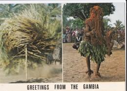 AN10 Gambia, Kankurand And Kumpo, Masked Dancers - Gambia