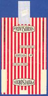 Portugal 1950 To 1960, Packet Of Cigarrettes - PROVISÓRIOS / Intar, Sintra Lisboa - Empty Tobacco Boxes
