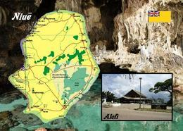 AK Landkarte Niue Island Country Map New Postcard - Postcards