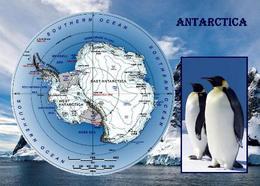 AK Antarktis Landkarte Antarktika Antarctica Map New Postcard - Ansichtskarten