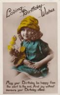 AP42 Greetings - Loving Birthday Wishes - RPPC, Young Girl - Birthday