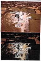 ERBRAY (L-A) 2 Photos Originales -vue Aérienne De L' USINE M.E.A.C. Fabrique De Carbonate De Chaux -Photo COMBIER An.60 - Places