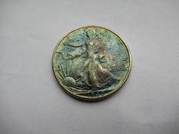USA, 1/2 Dollar, 1940 Liberty Half Dollar  Blauwe Patina - 1916-1947: Liberty Walking (Liberté Marchant)