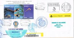 32142. Carta Certificada BARCELONA 2003. Campeonatos Natacion. Federacion Catalana. Club Sant Andreu - 1931-Hoy: 2ª República - ... Juan Carlos I