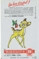 BU 1651 /  BUVARD   BISCUITS  BN NANTES  LE JOURNAL DE MICKEY - Cake & Candy