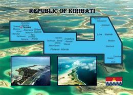 AK Landkarte Kiribati Map New Postcard - Kiribati