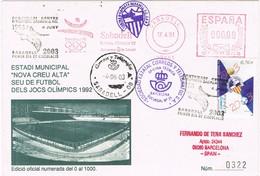 32143. Carta SABADELL (Barcelona) 2003. Deportes Estado Municipal, Sede Olimpica, Centenario Club - 1931-Hoy: 2ª República - ... Juan Carlos I
