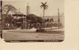 Mexico - VERACRUZ - Palacio Y Zocalo - REAL PHOTO - Ed. Briquet 60. - Mexiko