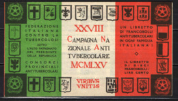 ITALIA - 1965 - 28^ CAMPAGNA ANTITUBERCOLARE - DANTE ALIGHIERI - LIBRETTO ERINNOFILI - MNH - Erinnofilia