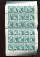 Belgie 1965 1327 Sir Rowland Hill England Painting Luppi Full Sheet MNH Plaatnummer 1 - Full Sheets