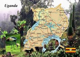 AK Uganda Landkarte Country Map New Postcard - Uganda