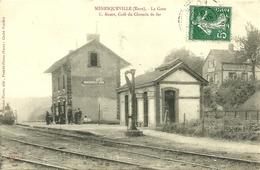 MENESQUEVILLE (Eure) - La Gare - L. Aubin, Café Du Chemin De Fer - France