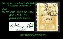 EARLY OTTOMAN SPECIALIZED FOR SPECIALIST, SEE...Mi. Nr. 750 - Mayo 103 A - Gez. 11 : 11 1/2 -RR- - 1920-21 Anatolie