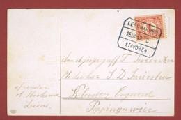 Treinstempel Leeuwarden - Stavoren 1915 Op Kaart - Poststempel