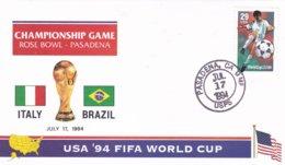 USA Cover 1994World Cup 1994 In USA Football - Championship Game Italy Vs Brazil (DD1-6) - 1994 – Estados Unidos